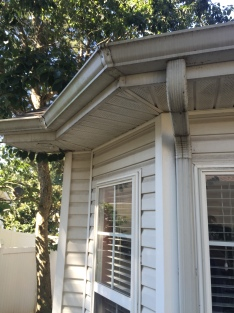 Wall, Soffit and Gutter Before